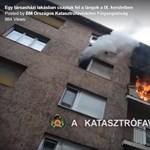 Lángolt az erkély, dőlt a füst egy ferencvárosi társasházból – videó