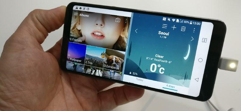 Egyszerre két alkalmazás is fut rajta, egymás mellett – fotók az LG G6-ról