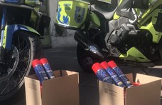 Motorosklubtól kaptak adományt a vírusmintákat gyűjtő mentőmotorosok