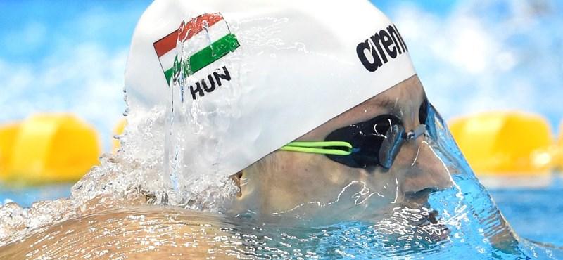 Verrasztó Dávid aranyérmet, Késely Ajna ezüstérmet, Burián Katalin bronzérmet nyert az úszó-Eb-n