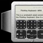 FlickKey, a világ legkisebb billentyűzete