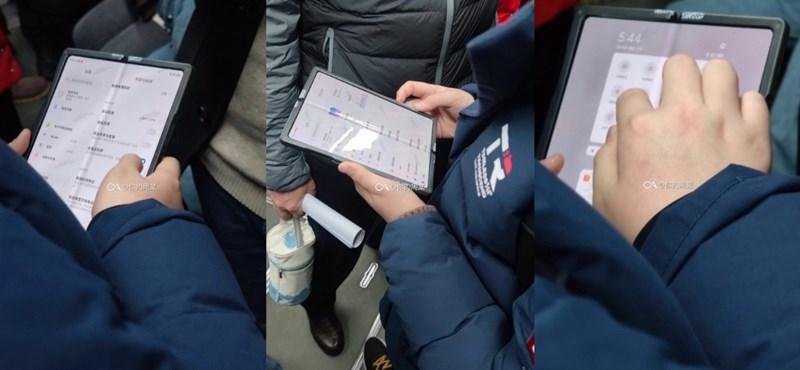 A kínai metrón készült lesifotó a Xiaomi összehajtható okostelefonjáról