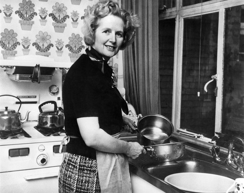 1975. február - Margaret Thatcher chelsea-i otthonának konyhájában - Margaret Thatcher