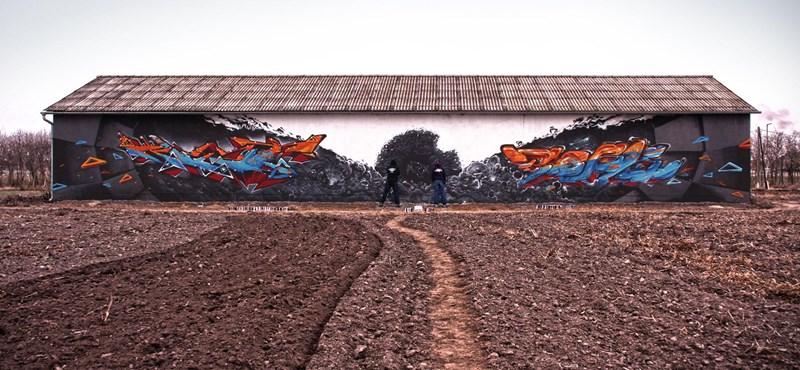 Budapest street art: 40 méteres óriás graffiti hazánk fiaitól