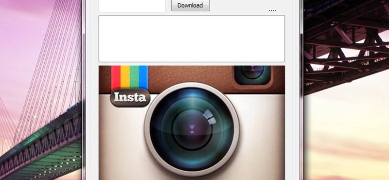 Töltsük le fotóinkat - vagy másét - az Instagramról, egyszerűen