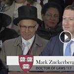 Majdnem elsírta magát Mark Zuckerberg az avatási beszédén, amikor elmesélte egy migráns fiú történetét