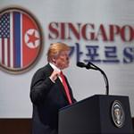 Trump a történelmi találkozó után: Felhagyunk a háborús játékokkal