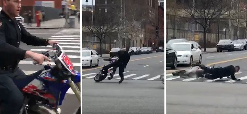 Elkobzott terepmotoron menőzött a rendőr, bár ne tette volna – videó