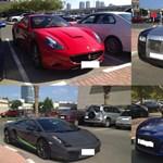 Ilyen egy dubaji egyetemi parkoló: Rollsok, Lambók, Ferrarik