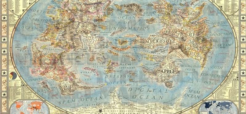 Elképesztő vizualizálás: íme az internet térképe