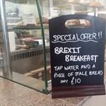 Brexit-menü reggelire