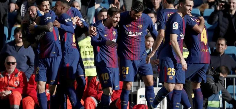 Messi góljával nyertek az Atlético Madrid ellen