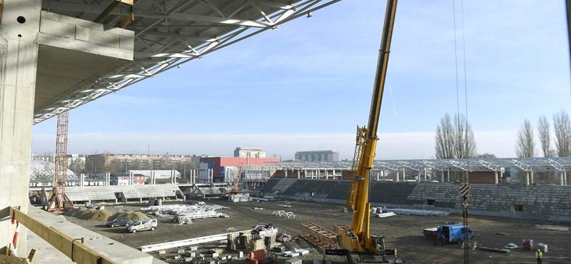 Épül-szépül a Vasas új, hétmilliárdos stadionja – fotókon mutatjuk a munkálatokat