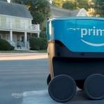 Nézze csak, Amerikában már ilyen kis robot gurul ki a házhoz rendelt csomagokkal