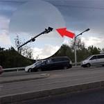 Tele lett kamerával az Árpád híd környéke