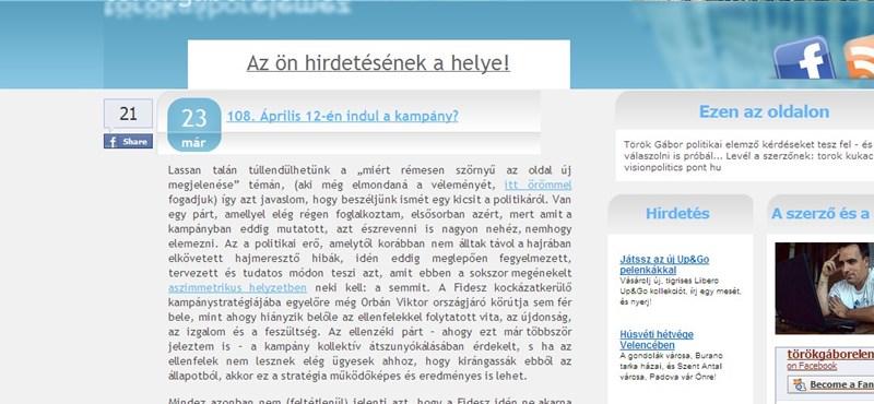 Török Gábor: alig történt változás a Fidesz népszerűségében