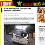 Videó: Telefonált a vezetést oktató, leszorították a bringást