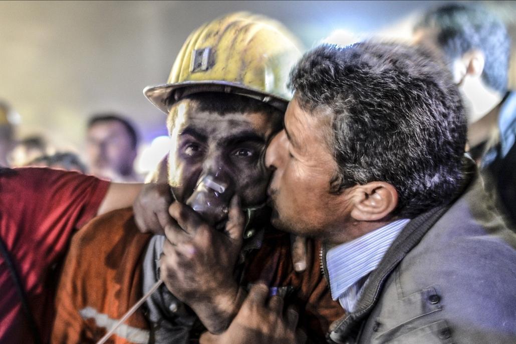 afp. Törökországi bányaszerencsétlenség 2014.05.14.