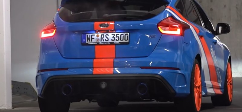 Igazi utcai troll ez a nyitott kipufogós Focus RS – videó