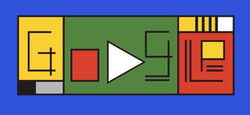 Mi ez a furcsa rajz ma a Google főoldalán, valami Bauhaus?