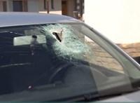 Megszólalt a 19 éves lány, akinek autójába csapódott egy 3 kilós szikladarab
