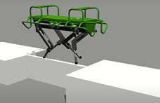 """Hat centi széles """"hídon"""" is képes átmenni a 90 kilogrammos olasz robotkutya – videó"""