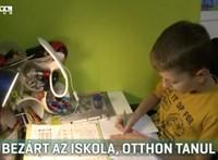 Bezárt az iskola, otthon tanul a 10 éves, beteg mártélyi kisfiú