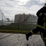 Fotó: Tűzoltók a Dunamenti Erőműben