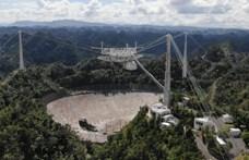 Összeomlott a világ legnagyobb rádióteleszkópja, a 900 tonnás Arecibo