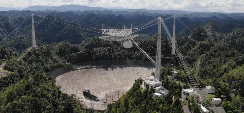 Életveszélyessé vált, 57 év után bezárják a világ egyik leghíresebb rádióteleszkópját