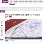 Külföldön is hír lett az Iszlám Államhoz tartó holland lány