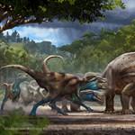 Összefonódott dinoszaurusz-csontvázakat mutat be egy amerikai múzeum