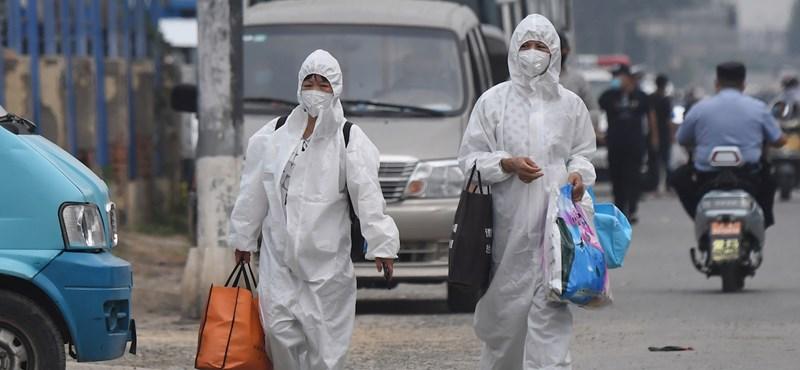 Kínában megint belehúzott a koronavírus