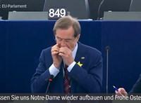 Borúra derű: egy szlovén politikus szájharmonikával szórakoztatta az EP-képviselőket