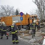 Így tarolta le a virágüzleteket a kukásautó Budapesten – fotók