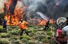 Újabb erdőtüzek keletkeztek Görögországban, a legjelentősebb Athén közelében