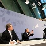 Konfettibombával támadtak az európai jegybank elnökére (videó)