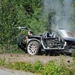 Olajfolt tett taccsra egy Dodge Vipert – fotók