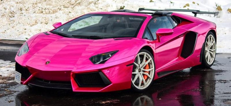 Barbie rózsaszín ez a 700 lóerős Lamborghini, de nem ezért vitték el a rendőrök
