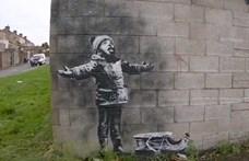 Megszabadult a Banksy-graffititől a frusztrált garázstulaj