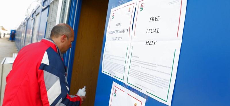 A rendőrség szerint nem jogellenes külföldieket éheztetni a tranzitzónában