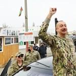 Győzelmi körútra indult az azeri elnök a feleségével Hegyi-Karabahban