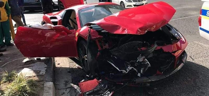 Videó: ripityára törték a Ferrarit, és ezt a fedélzeti kamerája is felvette