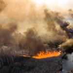 Veszélyessé vált a levegő Kijevben a csernobili erdőtűz miatt