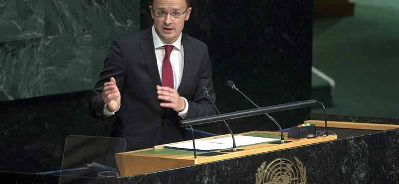 Szijjártó Péter ötpontos javaslatot tett az ENSZ-ben