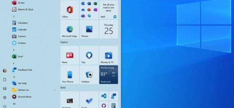 Változás a gépén: a vártnál hamarabb kerül az új Start menü a Windowsba