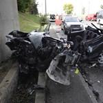 Képek érkeztek a súlyos Egér úti balesetről