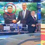 Nagyot ment az orosz állami tévé a Photoshoppal, nézze csak meg közelebbről Kim Dzsong Un fejét