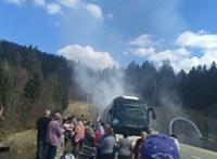 Kiégett egy magyarokat szállító busz Horvátországban