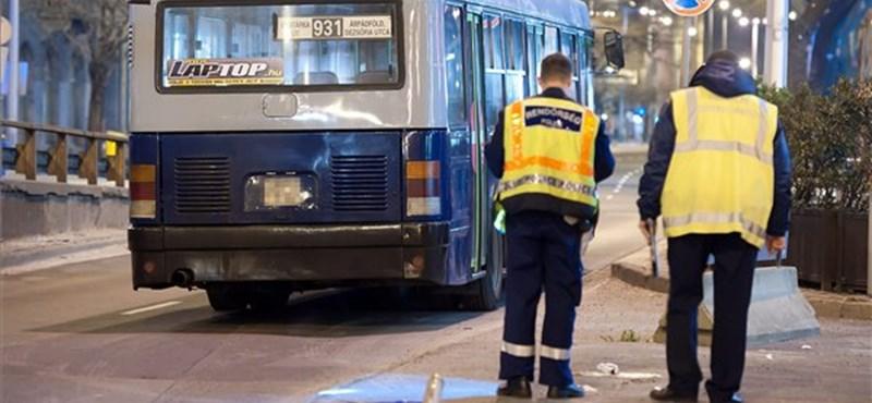 Saját busza ütötte el a sofőrt a Nyugatinál éjszaka – fotó